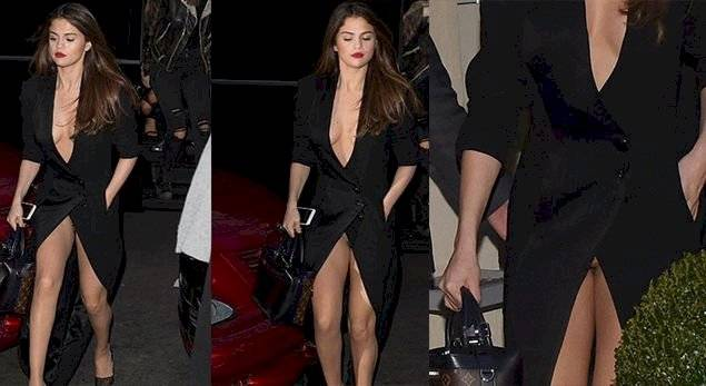 Selena Gomez dejo ver su entrepierna