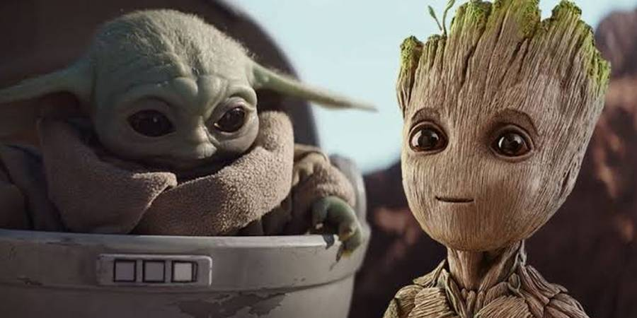 Baby Yoda amenaza a Baby Groot en Saturday Night Live