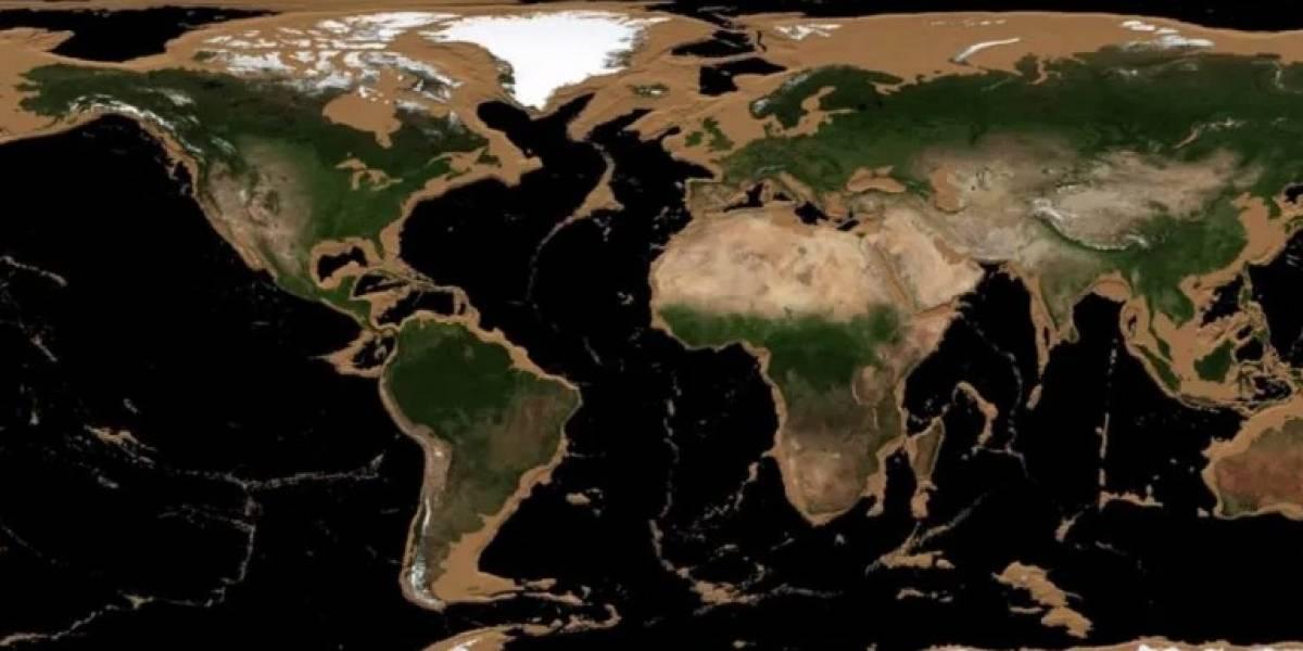 Espectacular animación que muestra cómo sería la Tierra si desaparecieran todos los océanos