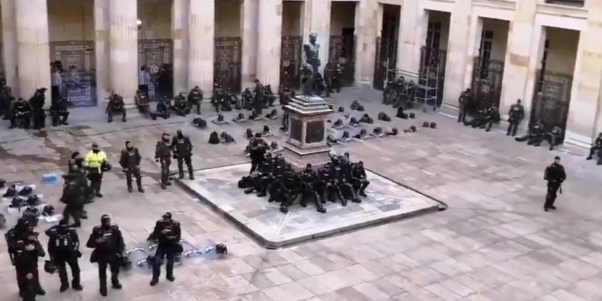 Esmad entró al Capitolio en medio de jornada de protestas