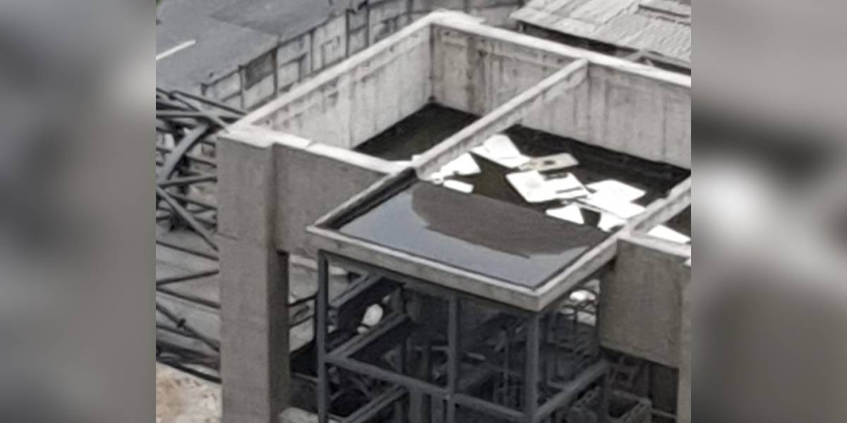 Água parada em obra da linha 17-Ouro do Metrô preocupa moradores na zona sul