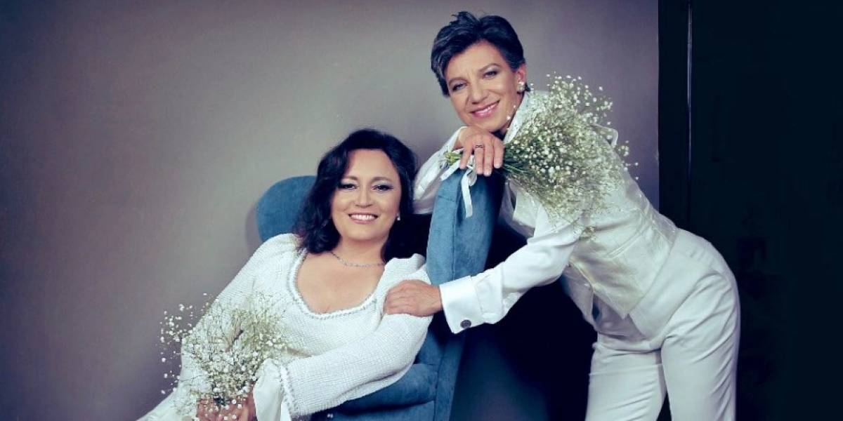 Se filtran primeras fotos del matrimonio de Claudia López y Angélica Lozano