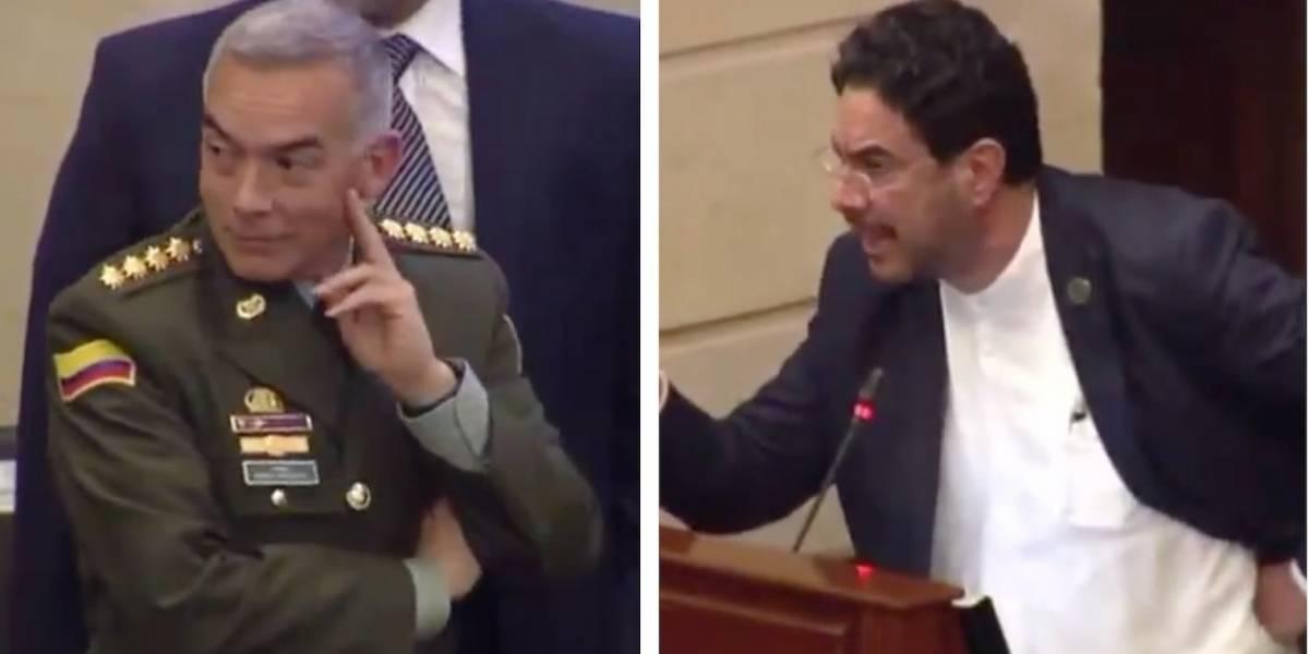 """""""Siéntese y escuche"""": Iván Cepeda al director de la Policía en debate sobre el Esmad"""