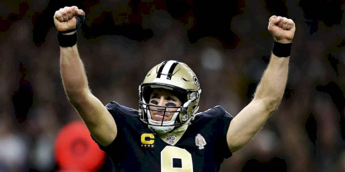 ¡Historia NFL! Drew Brees rompe el récord de más pases de anotación