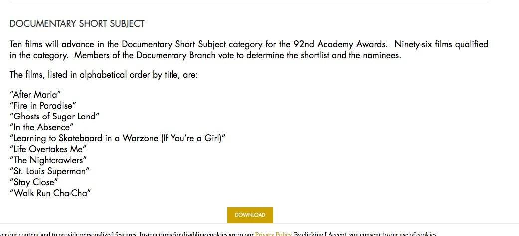 Lista Oscar