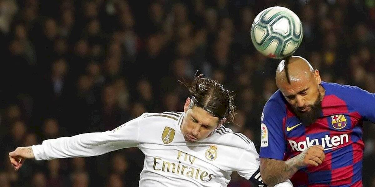 Barcelona y Real Madrid timbraron un cerrado empate que tuvo a un intenso Arturo Vidal