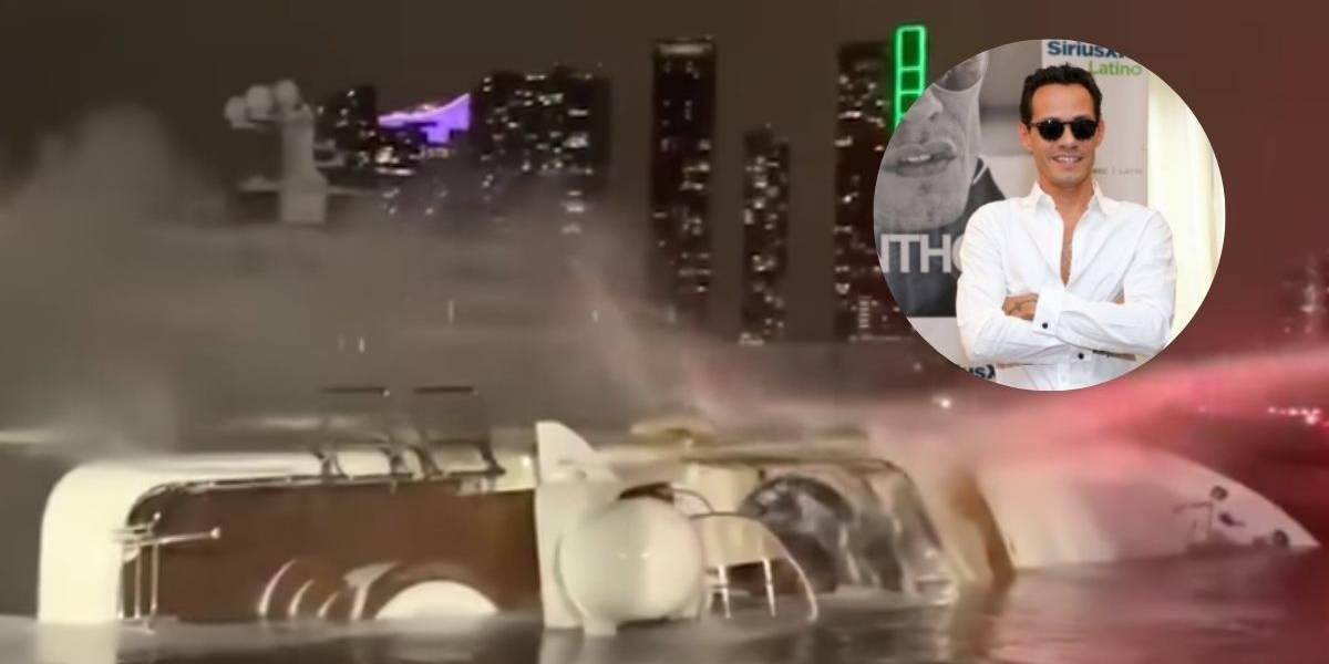 Yate del cantante Marc Anthony se incendió en Miami