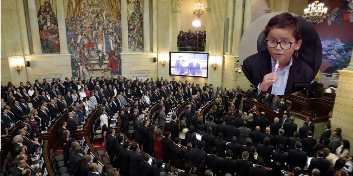 (Video) Niño ambientalista asombró en el Congreso con imponente discurso