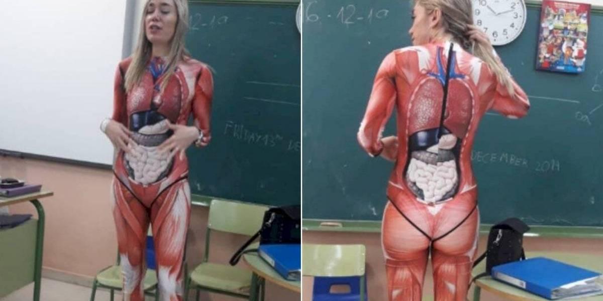 Professora se torna viral nas redes sociais depois de decidir inovar na aula de anatomia
