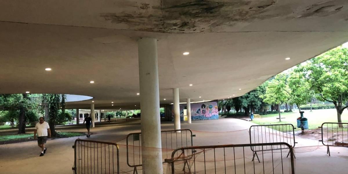 Marquise do parque Ibirapuera tem pontos isolados para obras desde fevereiro