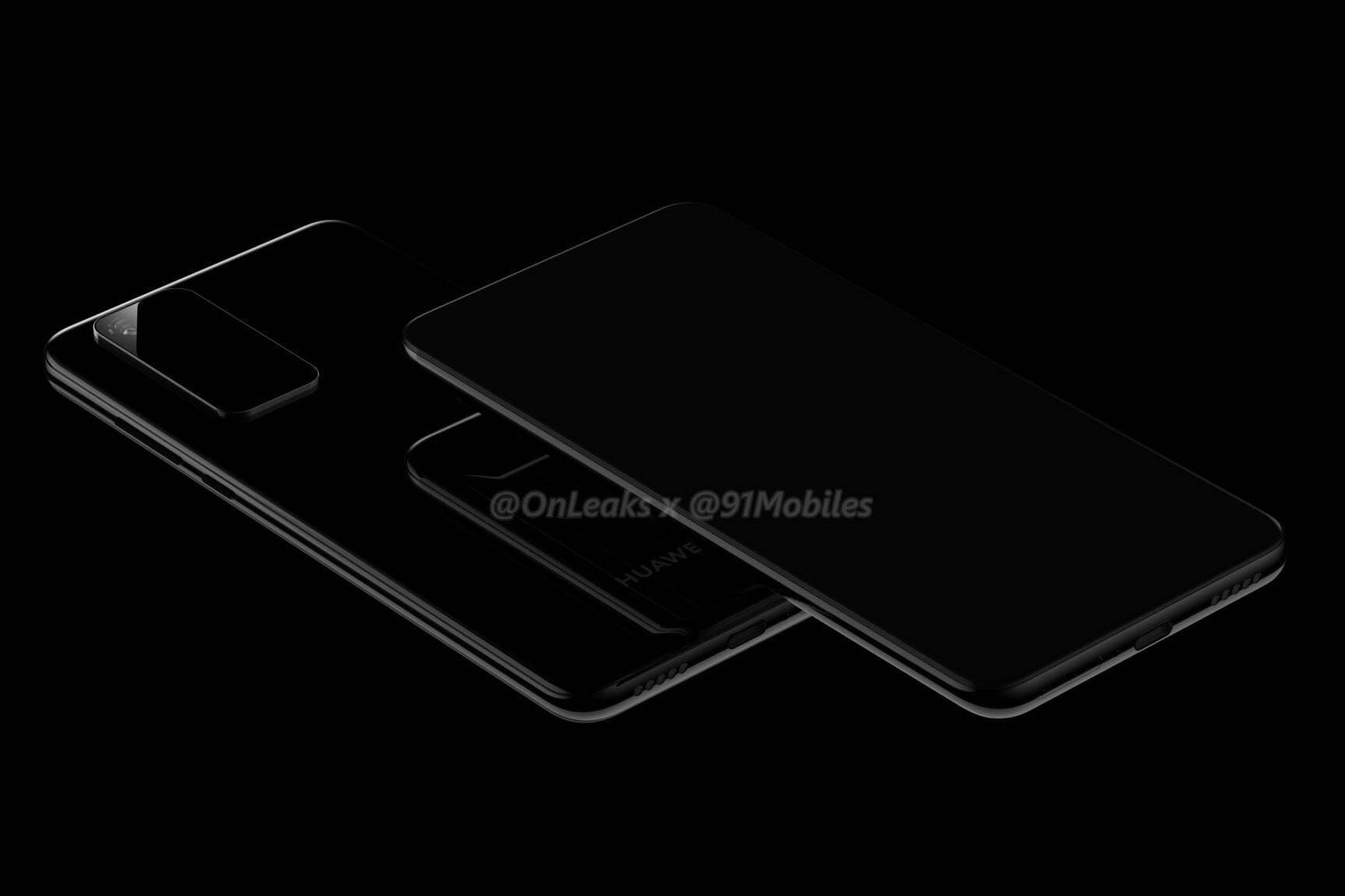 Se filtran renders del Huawei P40 Pro donde vemos su pantalla y cámaras