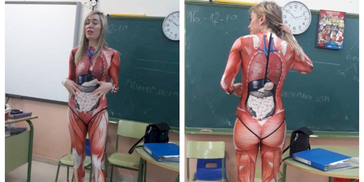"""""""Lo vi por casualidad y dije, ¿por qué no?"""": profesora se vuelve viral por la forma en la que enseña anatomía a sus alumnos"""