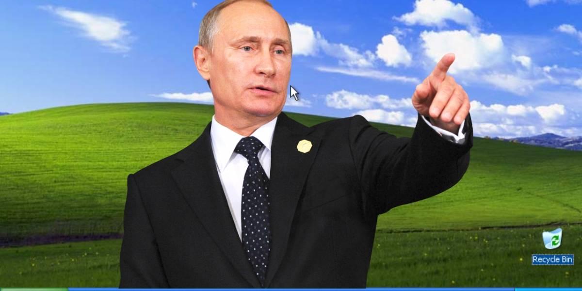 Rusia con R de Retro: Vladimir Putin sigue utilizando Windows XP