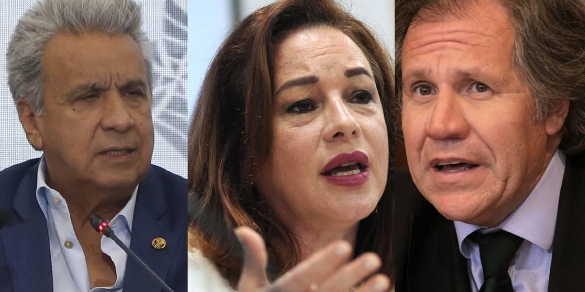 Lenín Moreno destaca la capacidad de María Fernanda Espinosa pero apoya a Luis Almagro