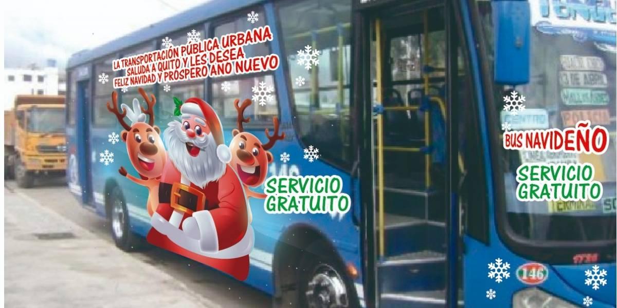 Servicio de buses será gratuito en Quito por Navidad