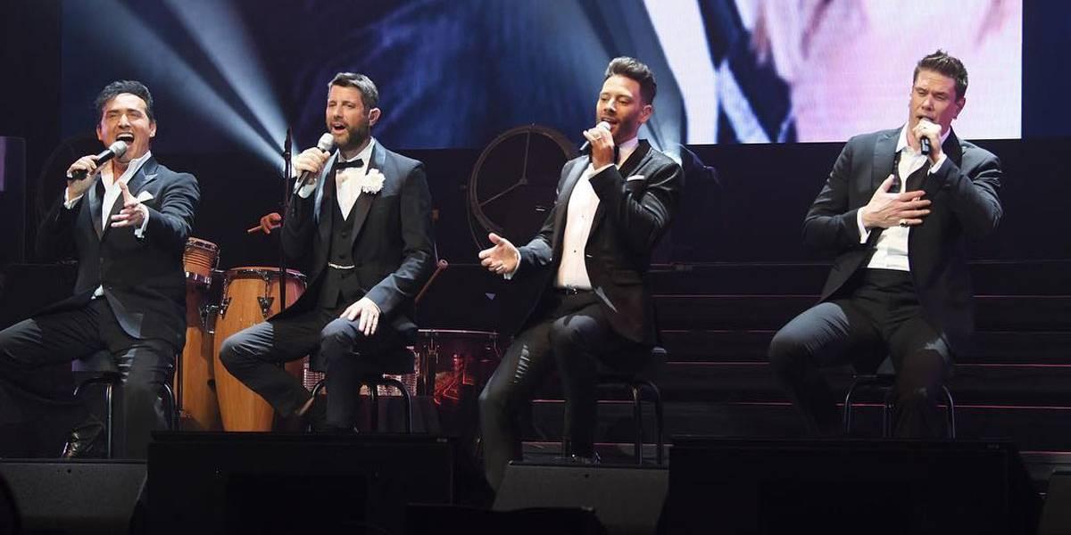 Grupo vocal Il Divo volta ao Brasil em abril