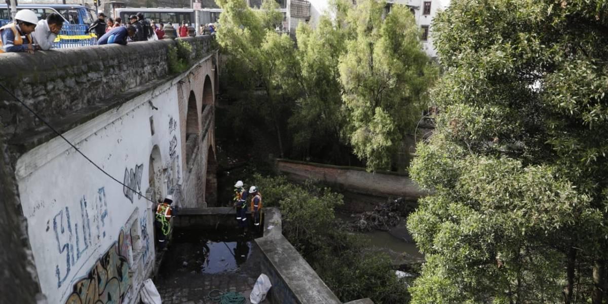 Causa del socavamiento fue el desvío del cauce del río Machángara