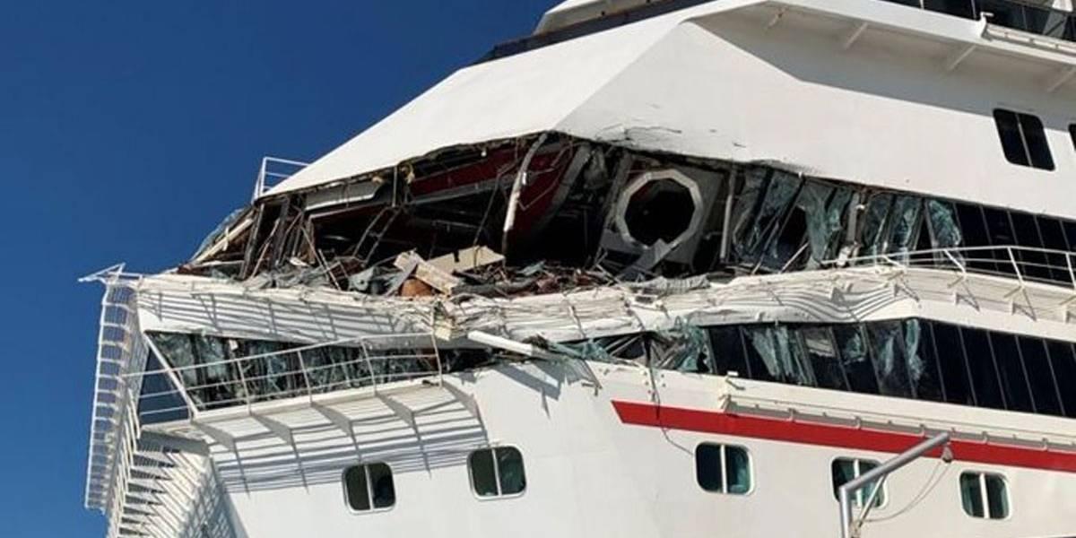 Vídeo: Navios de cruzeiro colidem em Cozumel, no México