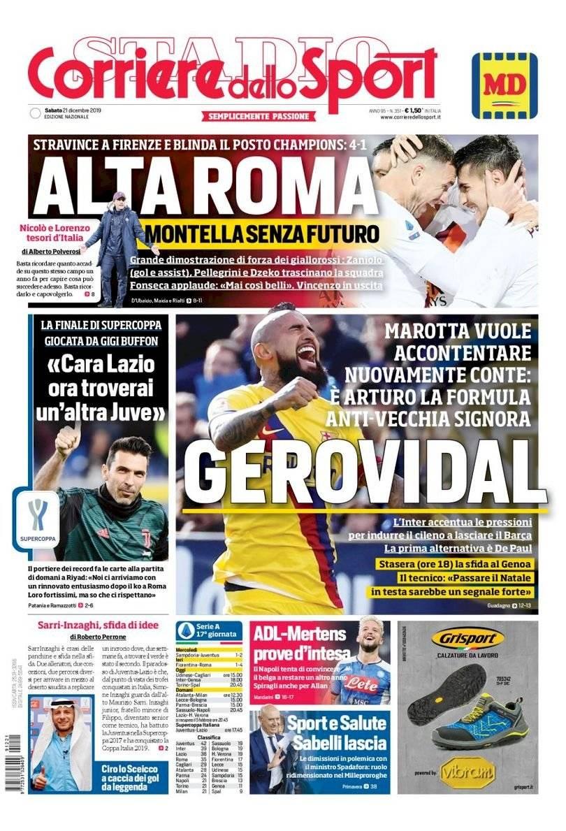 Portadas italianas Prensa italiana
