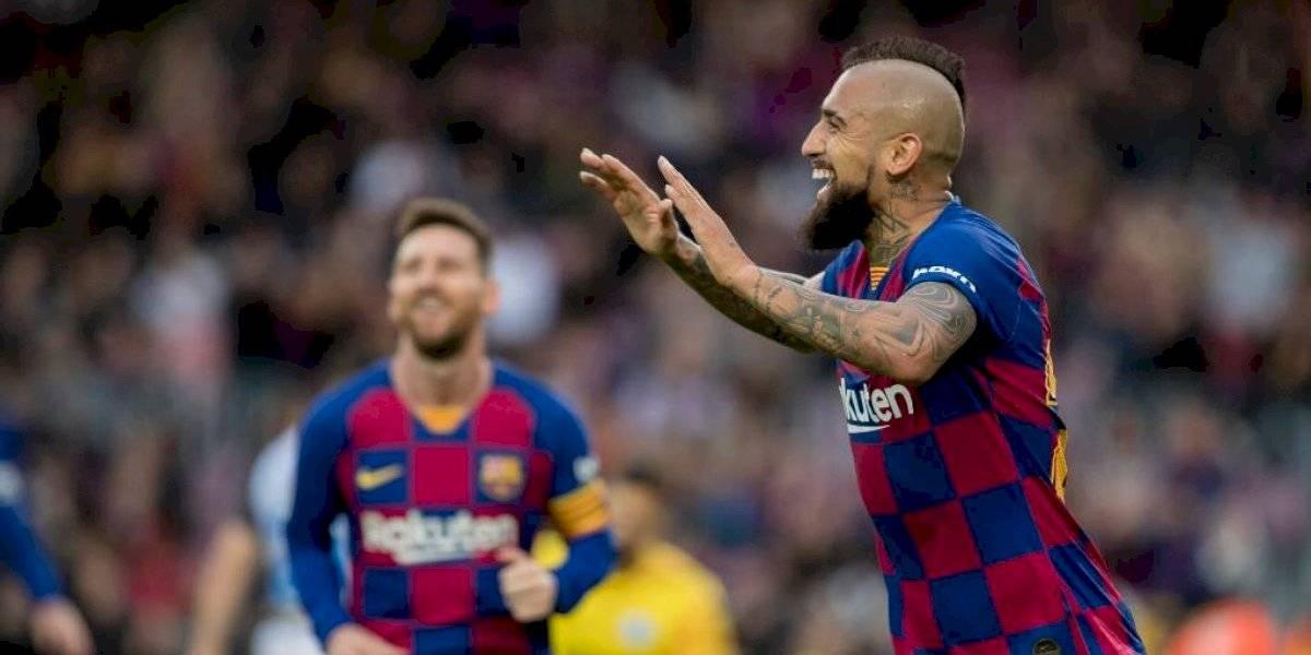 Vidal anotó golazo para triunfo parcial del Barcelona sobre el Alavés
