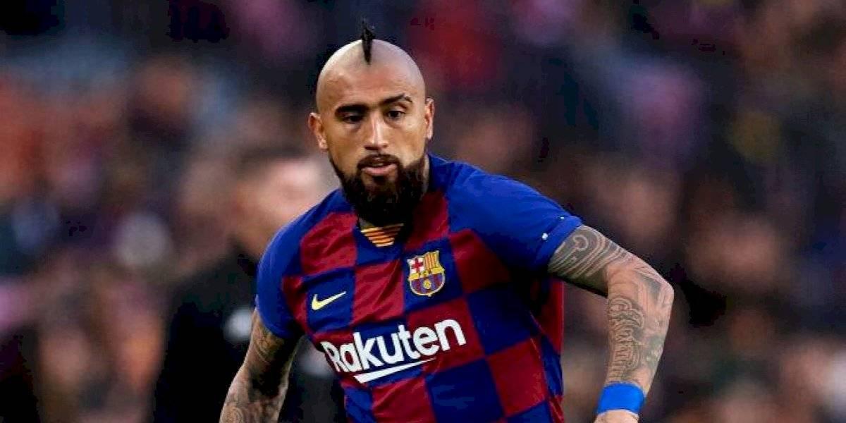 """Vidal descartó referirse al interés del Inter: """"Mi representante es el que tiene que ver eso"""""""