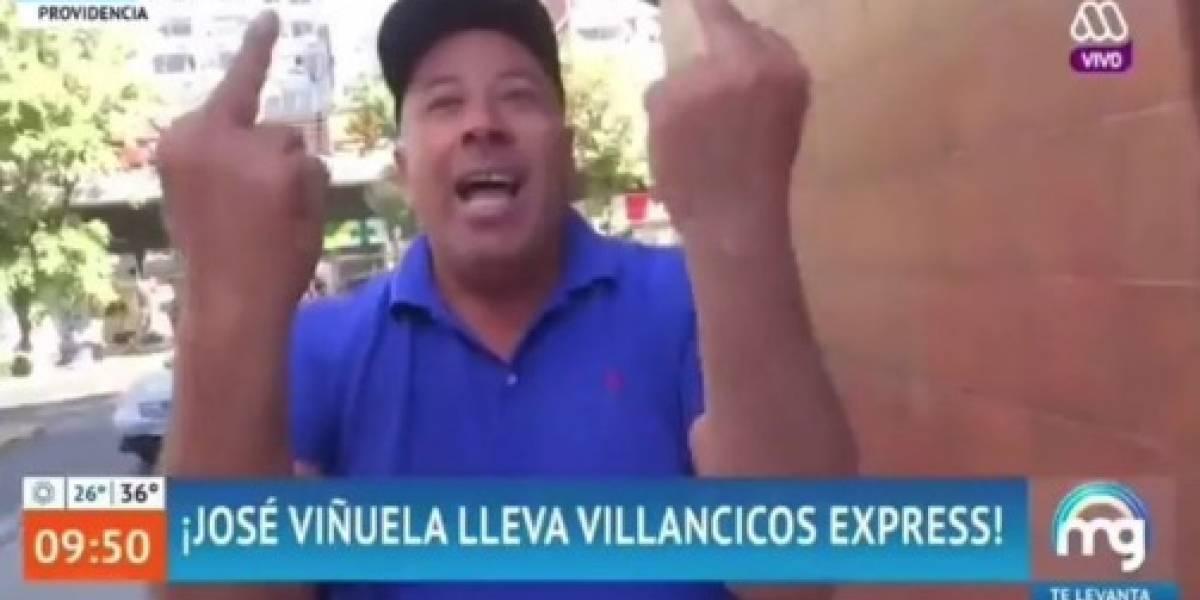 Llevaban villancicos express y casi recibieron una golpiza: intentan agredir a Viñuela y equipo de Mucho Gusto en plena transmisión