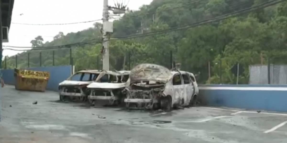 Viaturas da Guarda Civil são incendiadas em ataque à base em Santana do Parnaíba