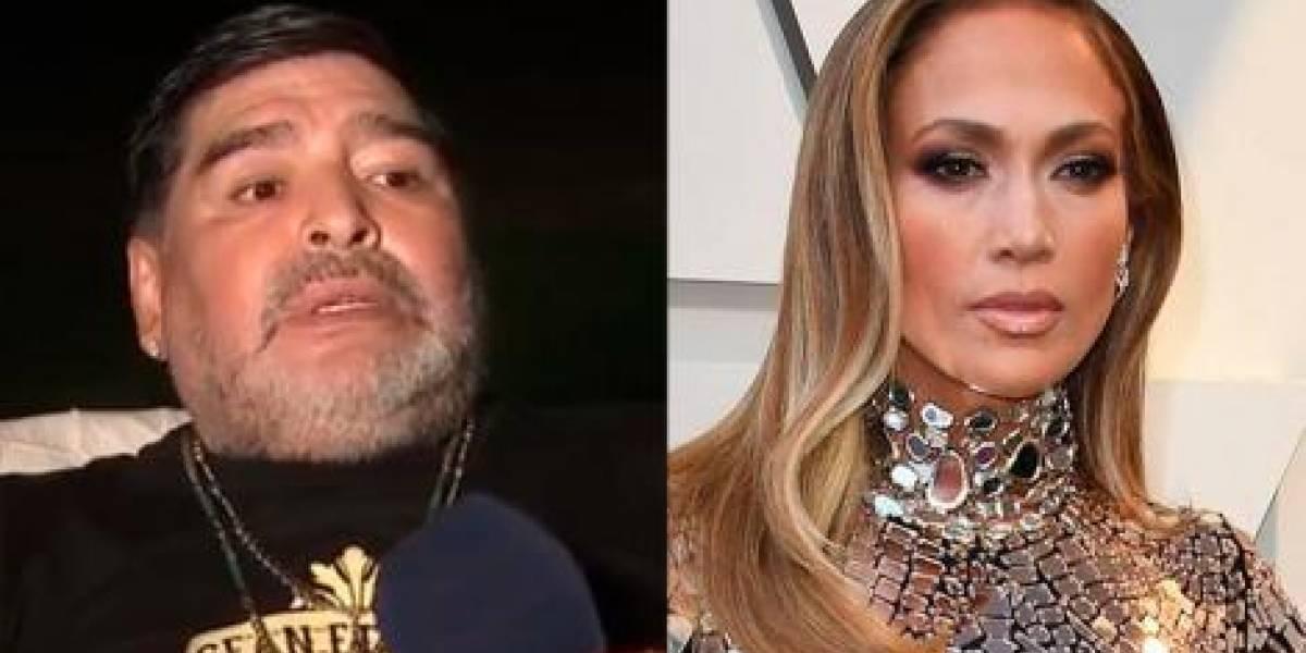 ¡Se destapó! La candente respuesta que dio Maradona a Jennifer Lopez