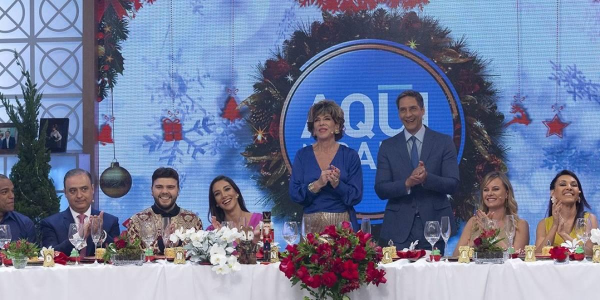 'Aqui na Band' reúne elenco da emissora em almoço especial de Natal nesta terça