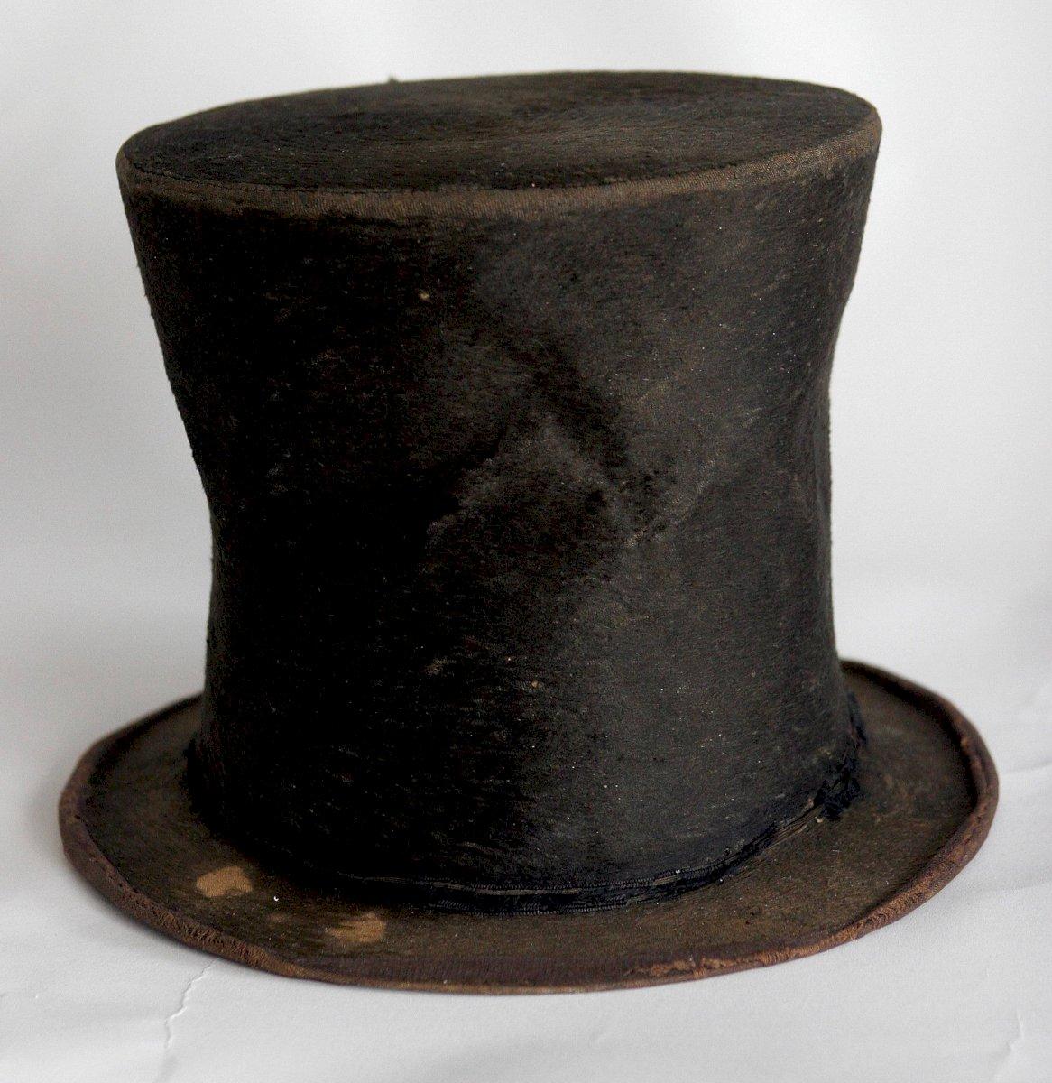 Sombrero que presuntamente era de Abraham Lincoln