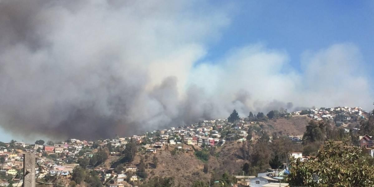 Alerta Roja en Valparaíso: incendios forestales, cortes de luz y evacuaciones