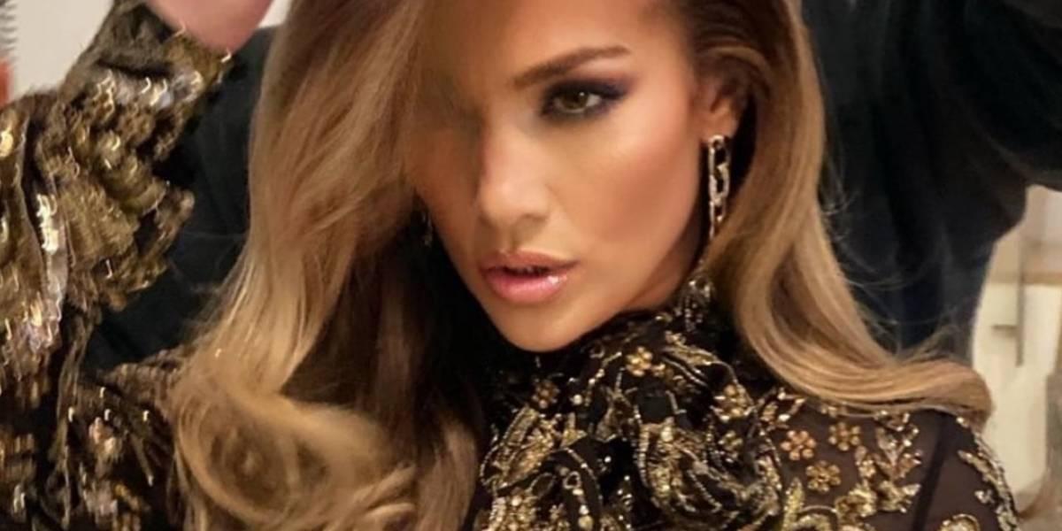 Jennifer Lopez y su vestido súper transparente; no llevaba ropa interior
