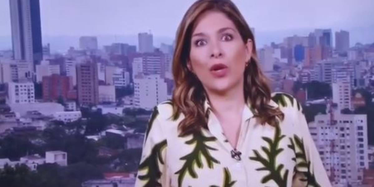 (Video) Llanto y temor en el set de Caracol Noticias en el momento del temblor