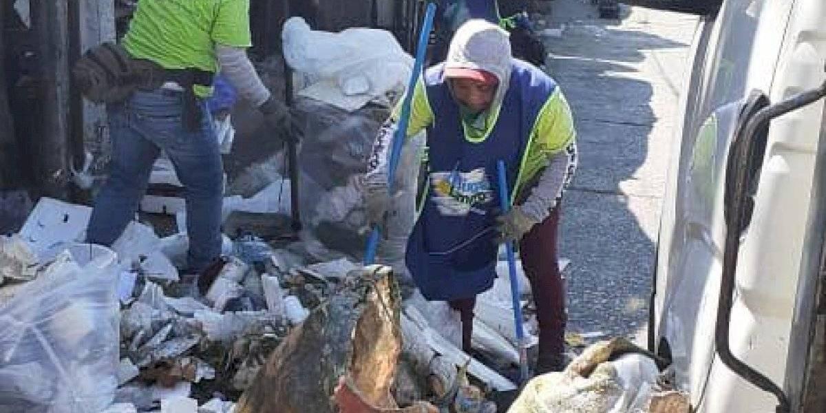 500 toneladas de basura son recogidas en Mixco tras Nochebuena y Navidad