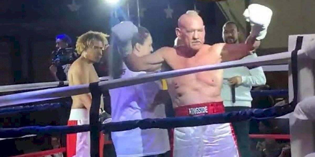 Boxeador de 70 años rompe récord guinness y dedica pelea a  hijo que se suicidó