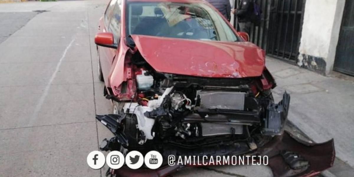 Accidentes en zona 6 y Villa Nueva complican el tránsito