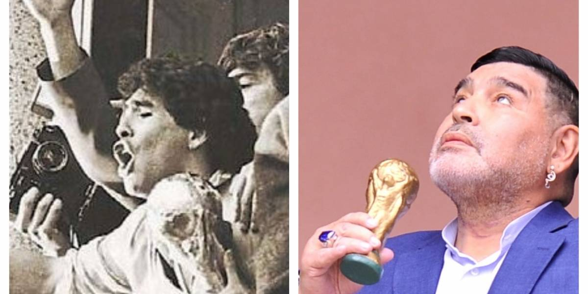 VIDEO. Diego Maradona de nuevo en el balcón de Casa Rosada así como hace 33 años
