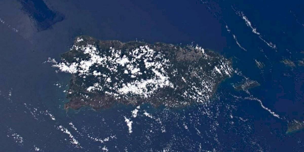 Así se vio Puerto Rico desde el espacio en Navidad