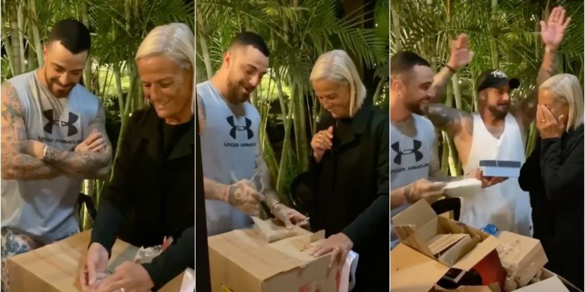 Felipe Titto dá apartamento de presente surpresa para a mãe
