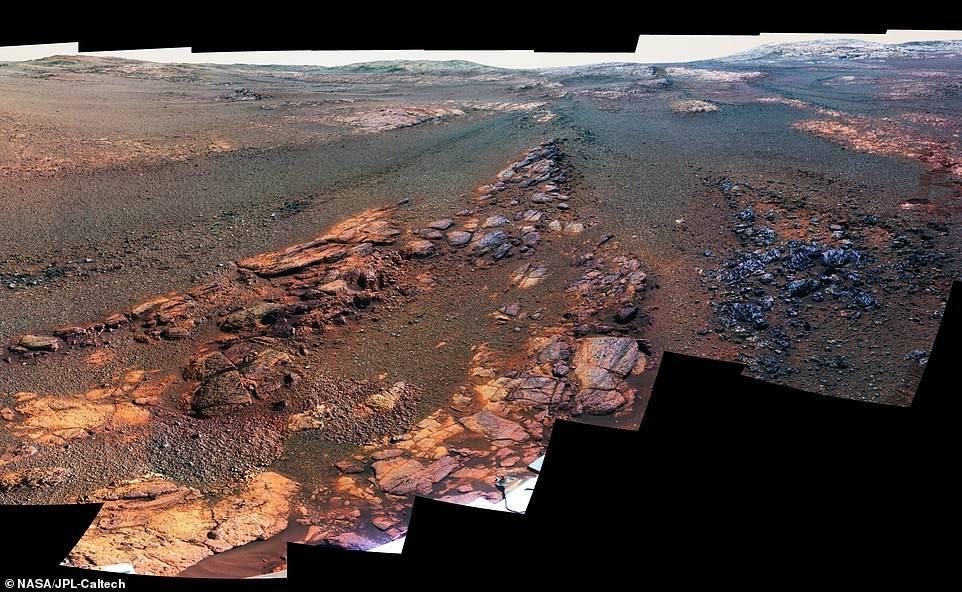 """La NASA revela imágenes donde se encuentra el """"descanso final"""" del rover Opportunity"""
