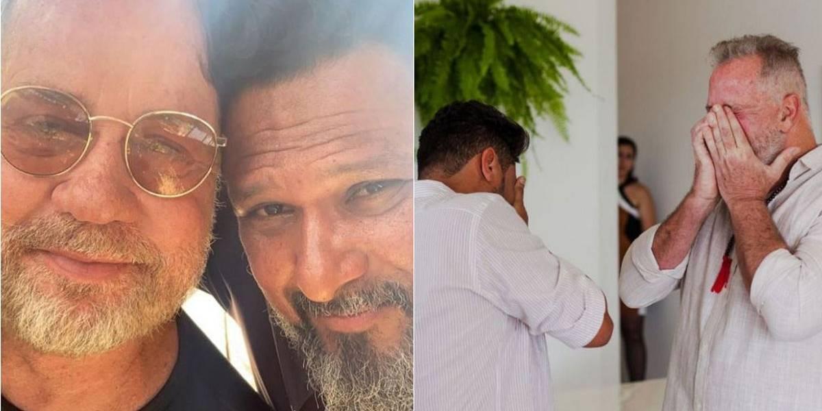 Luiz Fernando Guimarães se casa com Adriano Medeiros após 20 anos de união