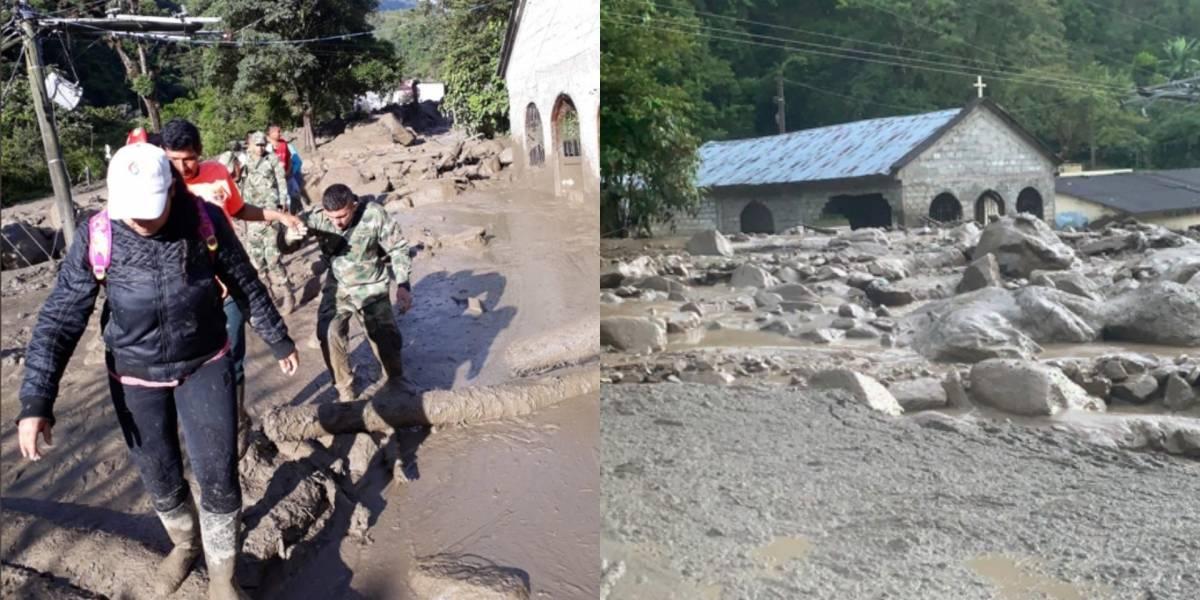 Ocho desaparecidos tras desbordamiento de un río en Colombia