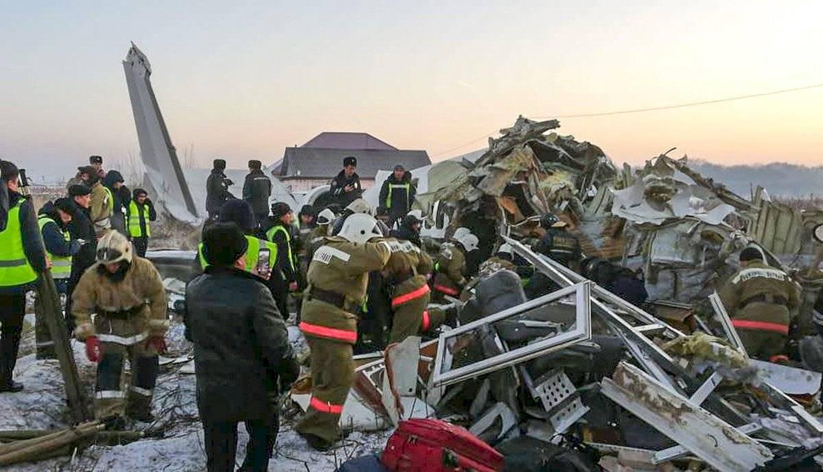 accidente de avión en Kazajistán