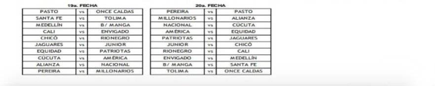 3. Fixture Liga BetPlay 2020-1
