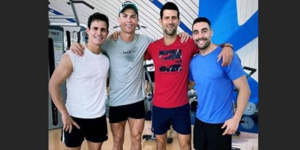 VIDEO. Cristiano Ronaldo le enseña su gran secreto a Novak Djokovic