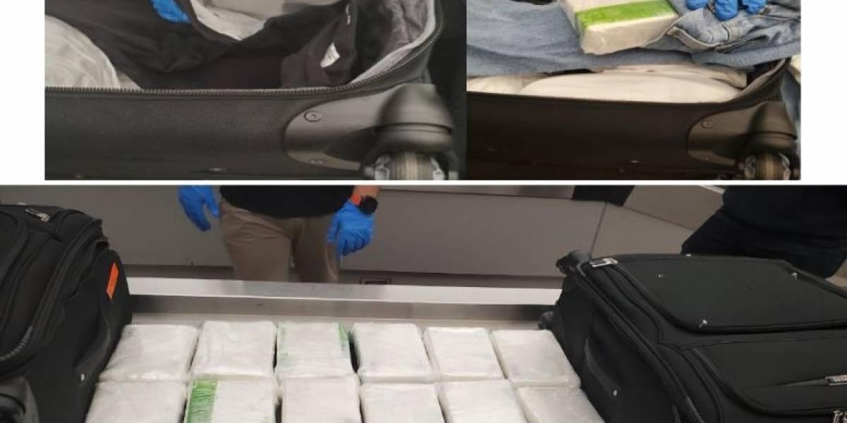 Incautan 20 kilos de cocaína en el Luis Muñoz Marín