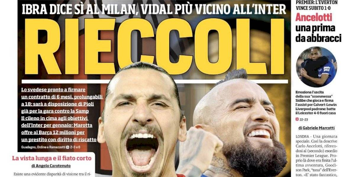 """""""Aquí de nuevo"""": Zlatan Ibrahimovic y Arturo Vidal sacuden el mercado de pases en Milán"""