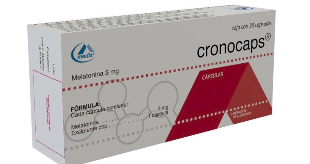 Pastillas Cronocaps con melatonina de liberación prolongada