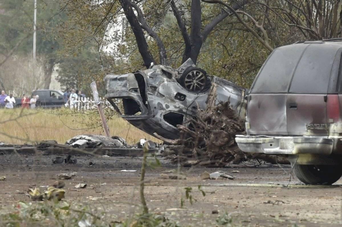 Escenas de la zona del accidente aéreo