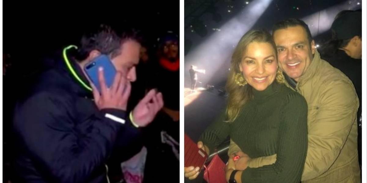 Esposa de Juan Diego Alvira lo llamó en plena emisión de 'Noticias Caracol' porque no creía dónde estaba